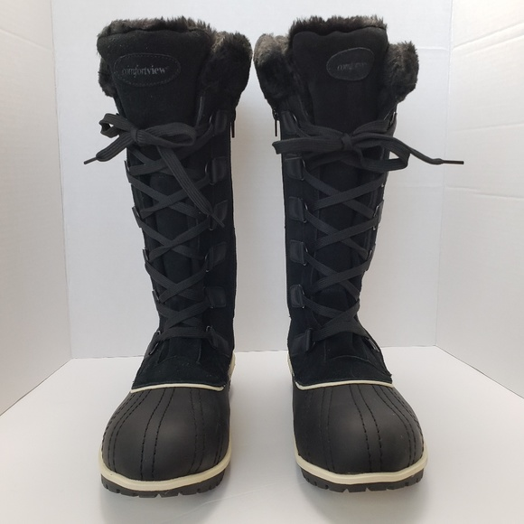 competitive price arriving latest collection Comfortview Toby Black Suede Winter Boots